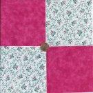 Petite Flowers  Pink Solid  4 inch 100% Cotton Fabric Quilt Squares DE1