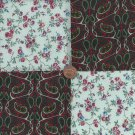 Gorgeous Florals with Twist of Paisley Fabric Novelty Quilt Squares  ef