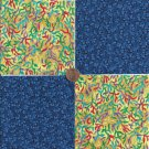 Coral Delight  4 inch 100% Cotton Novelty Fabric Quilt Squares TB1
