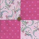 Princess Polka Dot 4 inch Fabric Quilt Squares Block zs1