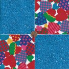 Varigated Hearts Rain Drops  4 inch 100% Cotton Novelty Fabric Quilt Squares TB1