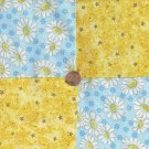 Golden Daisies and Matching Stars Cotton Craft Quilt Fabric Squares wz1