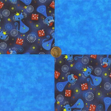 That KAT  100% Cotton Fabric Squares Crafting Quilting Adorable Material LP1