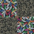 Endless Shoes on  Dark Path 4 inch 100% Cotton Novelty Fabric Quilt Squares TC1