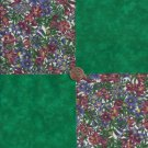Cranberry Orchids Green Solid 100% Cotton Fabric Quilt Square Blocks FT