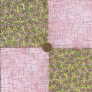 Aspiring Buds in Pink 4 inch Cotton Novelty Fabric Quilt Quilt Squares  CK