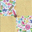 Penny Candy Sweets Dots  4 inch 100% Cotton Novelty Fabric Quilt Squares TC1