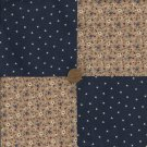 In the Garden Under the Midnight Blue Sky Cotton Novelty Fabric  Squares zL1