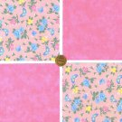Butterfly Serene Cotton Cotton Fabric Craft Novelty Quilt Squares Blocks ZF1