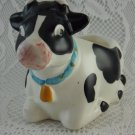 Vintage Ceramic Resting Spotted Cow Adorable Collectible Trinket Holder tblza1