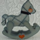 Decorative Wooden Rocking Horse Indoor Home Decor Figurine Collectible tbleu1