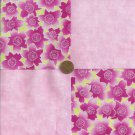 4 inch Shocking Pink Flowers Fabric Squares Kit  100% Cotton  ZE1