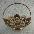 Vintage Metal Basket Collectible Treasured Family Heirloom from Curio TBLJR2