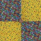 Buttons Chicklets Geometric Cotton Fabric Craft Squares  PB1