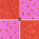 Gorgeous Red Rose Love 1X  Fabric 100% Cotton Quilt Craft Squares zw1