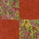 Orchids & Iris 100% Cotton Fabric SquaresCrafting Sewing Quilting  LP1