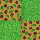 Leave The Ladybug Bugs Cotton   Fabric Quilt Craft Squares zg1