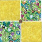 Sunshine in the Garden 4 inch 100% Cotton Novelty Fabric Squares SO1