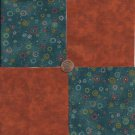 Multi-colored Burst 4 inch 100% Novelty Fabric Quilt Squares ffs1