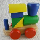 Melissa and Doug Classic Wooden Toy Stacking Train Bright Colors Cheerful tblmh1