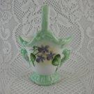 Ceramic Vase Bouquet Holder Getaway 2000 Linda Lilacs Floral Basket tblbs1