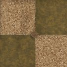 Earth Tone Leaves Brown 4 inch Cotton Fabric Quilt  Blocks Squares  ms1