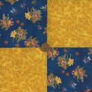 Flowers Gold Vine Fabric 4 inch Cotton Fabric Quilt Squares zd1