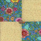 Popular Mod Flowers 4 inch Fabric Quilt Squares  ZE1