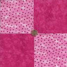 Dark Pink Triangles Solid  100% Cotton Fabric Quilt Square Blocks  EU