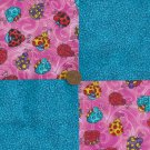 Sweet little Ladybug Blues  Cotton Fabric Craft Quilt Squares WZ1