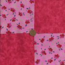 4 inch Rich Red Roses  Cotton Fabric Quilt Squares Kit zg1