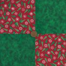 Trees Flakes Deep Green 4 inch Fabric Quilt Squares Block zs1