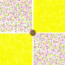 Passion Vine Sunshine Yellow Cotton Fabric Novelty Quilt Squares Sewing ZE1