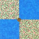 Tiny Hearts and Flowers Blue 100% Cotton Fabric Quilt Squares  my3