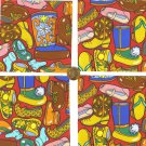4 inch Shoes Boots Footwear Fabric Quilt Squares Kit Novelty  zi1