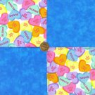 Valentine Sweetheart Candy Sugar Love 100% Cotton Fabric Crafting  LP1