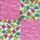 Wonderful Whimsy Pink Chips  4 inch 100% Cotton Novelty Fabric Quilt Squares TB1