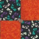 Spirits in the Window  4 inch Cotton Fabric Craft Quilt Squares Blocks wz1