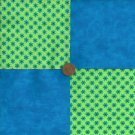 Blue Bright Flowers Fabric Squares Cotton Fabric Craft Quilt  zL1