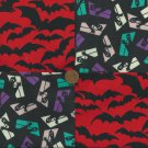 Ghosts Bats in the Belfree Belltower Craft  Fabric Quilt Squares Blocks sz1