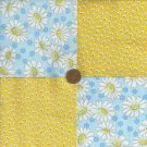 Eye of the Daisy   4 inch Cotton Cotton Fabric Quilt Squares wz1