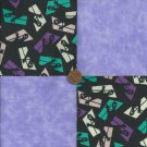 Ghost in Window Lavendar Fabric Quilt Squares Kit 100% Cotton za1