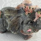 Darling Elephant in Pink Hat Bank Fund Money Shabby Rose Adorable Gift tblfx1