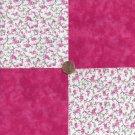 Flower Vine Pink Solid 100% Cotton Fabric Quilt Square Blocks kit  EU