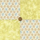 Vintage Look Circles Shabby  4 inch Fabric Novelty Quilt Squares  my4