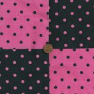 Powerful Pink Polka Dots and Spots  Fabric Quilt  Blocks Squares  sz1