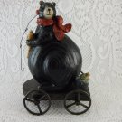 Bear Gone A Fishing Cart Fish In A Pail Red Scarf Treasure tblbs8