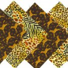 20 4 inch Animal Prints 100% Cotton Fabric Quilt Craft Squares OSR5