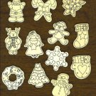 12 Wood Pre-cut Holiday Icons Santa Angel Tree Snowman Wreath Christmas 82c247-B