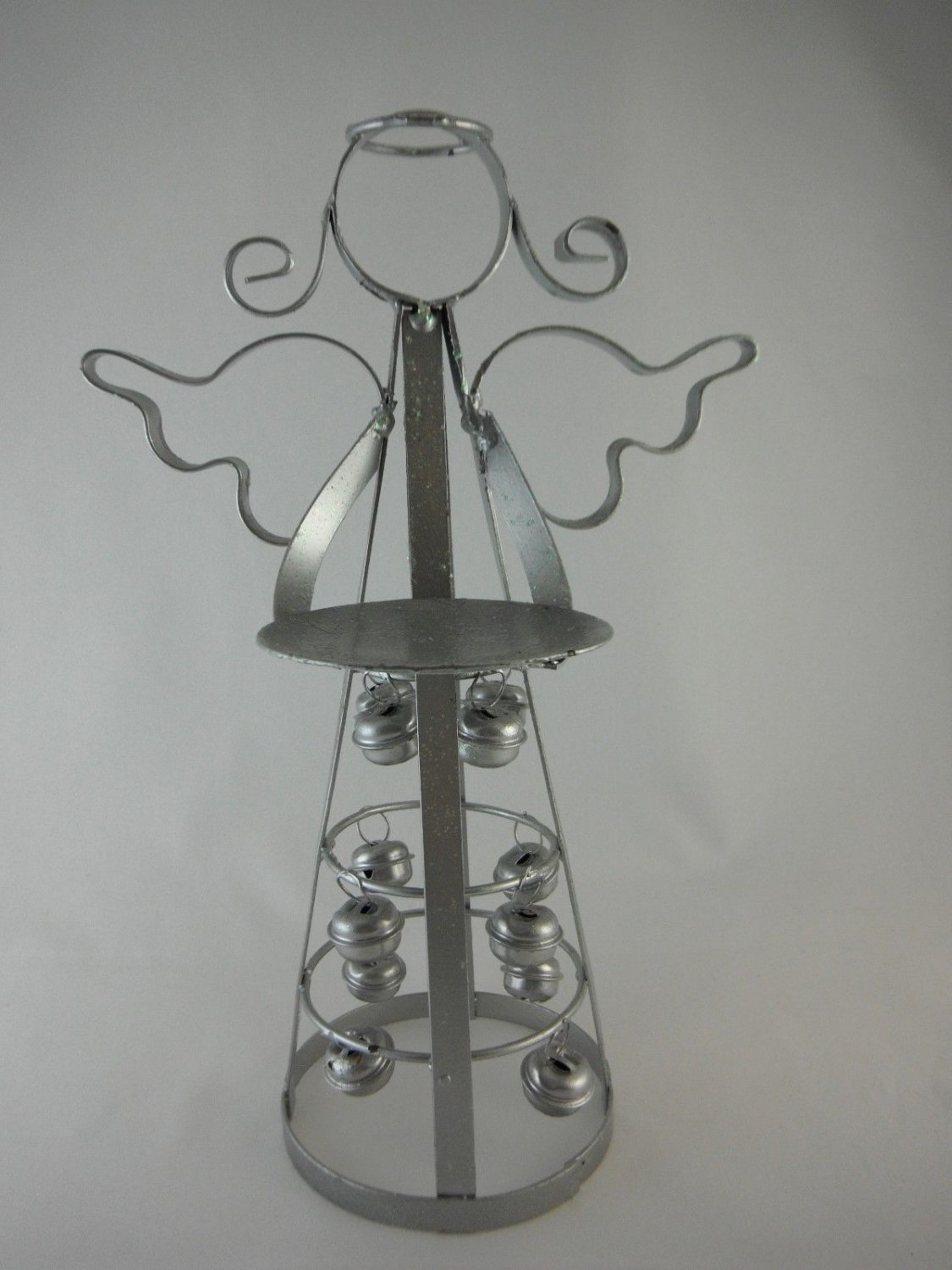 Metal Angel Candle Holder Decorative Bells Skirt Christmas or Everyday tblyn1